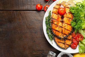 Dieta saludable con pescado